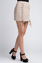 Honey Punch Tie Up Skirt - Product Mini Image