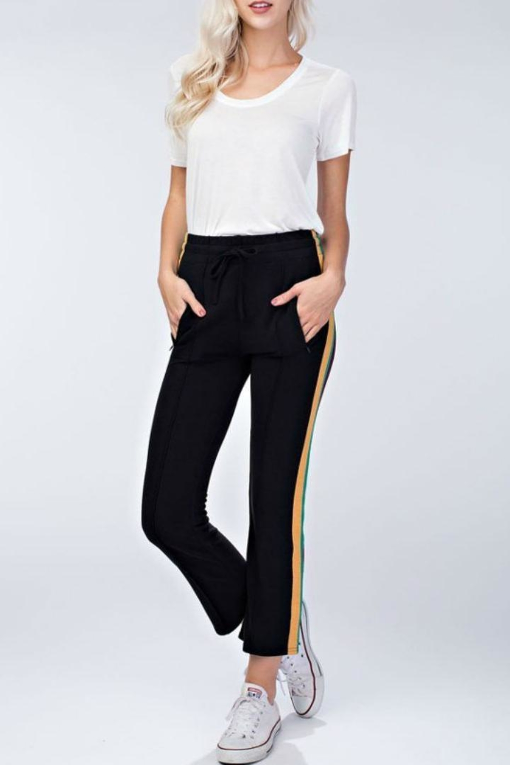Honey Punch Track Pants - Side Cropped Image