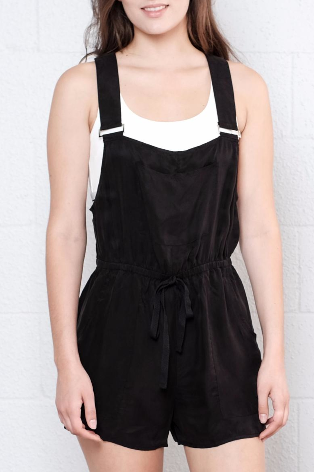 Honey Punch Utility Romper - Front Full Image