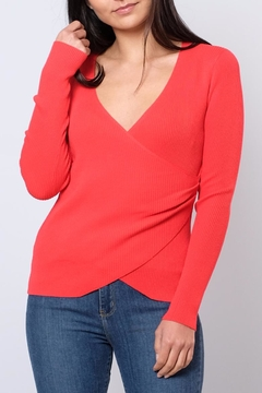 Honey Punch V-Neck Wrap Top - Product List Image