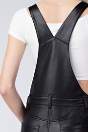 Honey Punch Vegan Leather Overalls - Other