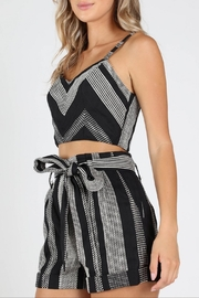 Honey Punch West-Coast Textured Crop-Top - Front full body