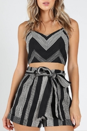Honey Punch West-Coast Textured Crop-Top - Front cropped