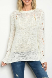 Honey Punch White Knit Top - Product Mini Image