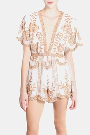 Honey Punch Multicolored Butterfly Lace Romper - Product Mini Image