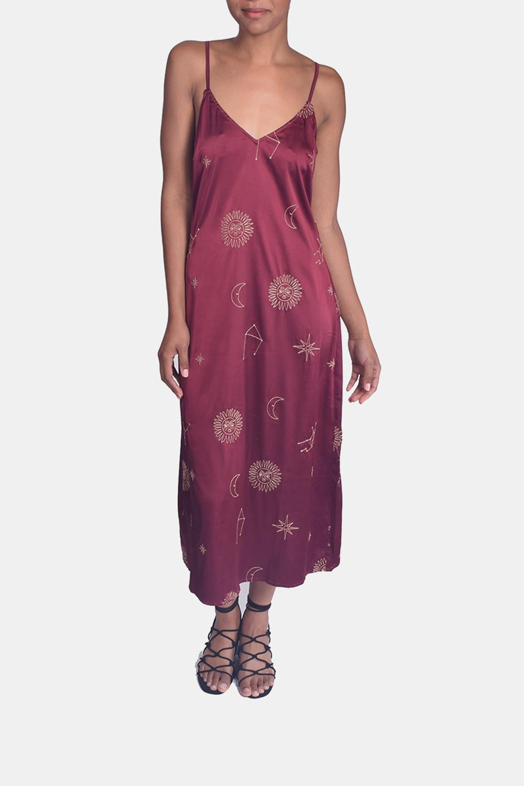 Honey Punch Witchy Woman Embroidered Dress - Main Image