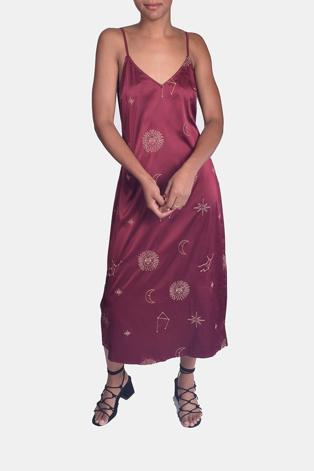 Honey Punch Witchy Woman Embroidered Dress - Front Full Image