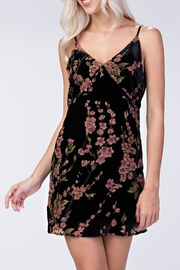 honeybelle Velvet Floral Dress - Front cropped