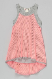Ragdoll & Rockets Honeycomb Mesh Tunic - Front cropped