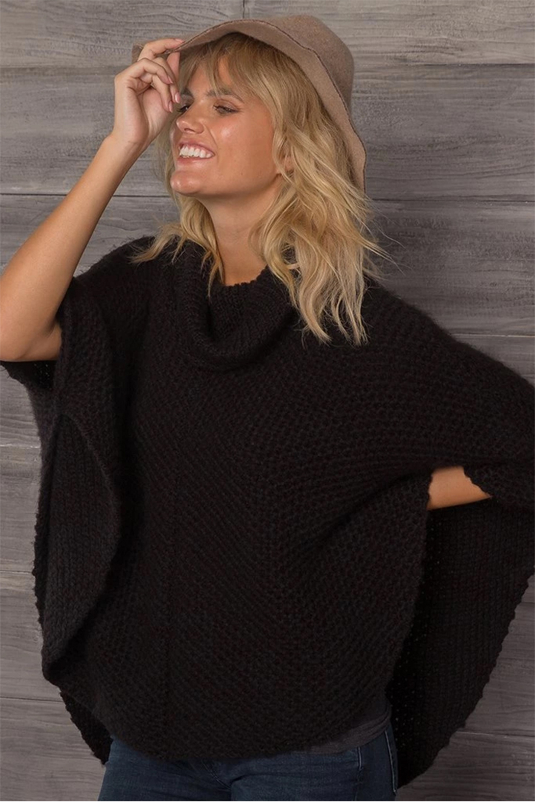Wooden Ships Honeycomb Poncho - Front Full Image