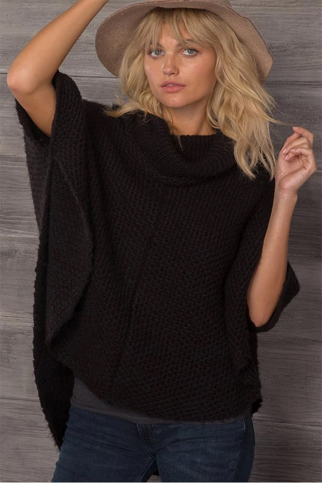 Wooden Ships Honeycomb Poncho - Side Cropped Image
