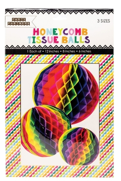 Party Partners Honeycomb Tissue Balls - Alternate List Image