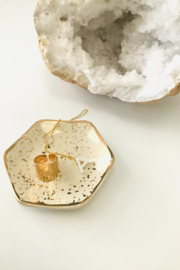 Karma Honeycomb Trinket Tray - Back cropped