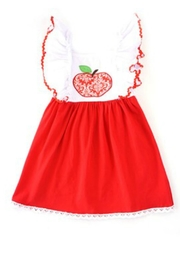 HONEYDEW Apple Embroidery Dress - Front cropped
