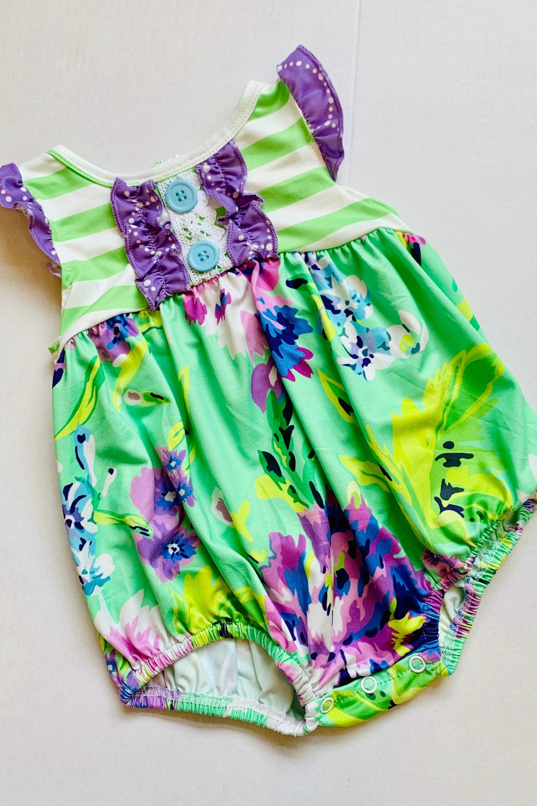 HONEYDEW Floral Bubble Romper - Main Image