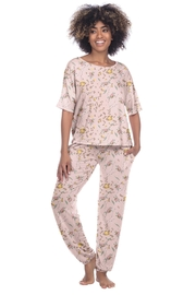 Honeydew Intimates Floral Terry Set - Front cropped