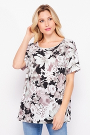 Elegance by Sarah Ruhs Floral Back-Cross Top - Product Mini Image