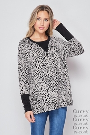 honeyme Leopard Sweater - Product Mini Image