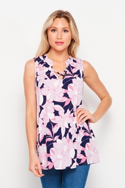 Elegance by Sarah Ruhs Sleeveless Floral Top - Product Mini Image