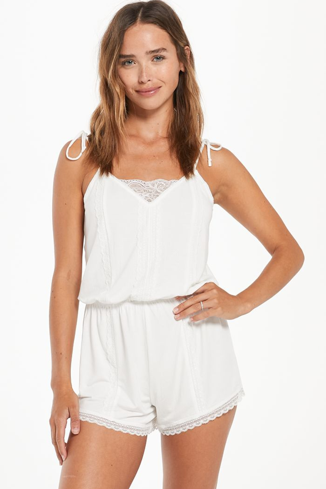 z supply Honeymoon Romper - Front Cropped Image