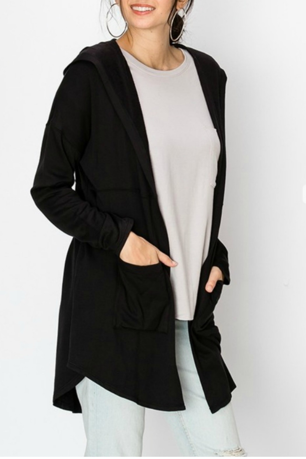 Starrs On Mercer Hooded Cardi - Front Cropped Image