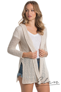 Shoptiques Product: Hooded Cardigan Sweater