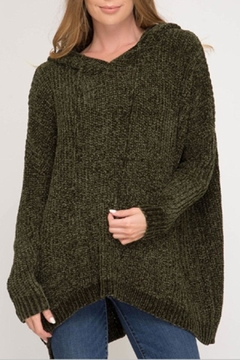She + Sky Hooded Chenille Pullover - Product List Image