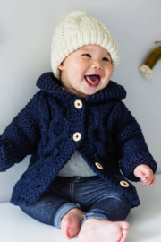 Huggalugs Hooded Coat Sweater Indigo - Product Mini Image