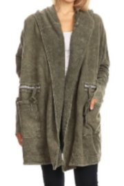 T Party Hooded Cotton Oversized Jacket - Front cropped