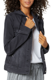 Liverpool  Hooded Denim Jacket - Front cropped