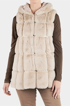 The Good Bead Hooded Faux Fur Vest - Product List Image