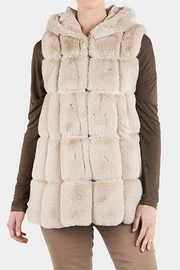 The Good Bead Hooded Faux Fur Vest - Product Mini Image
