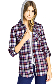 inso Hooded Flannel Shirt - Product Mini Image