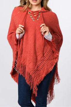 Patricia's Presents Hooded, Fringed Poncho - Alternate List Image