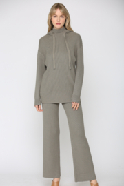 FATE by LFD Hooded Knit Sweatshirt with Flared Knit Pants - Product Mini Image
