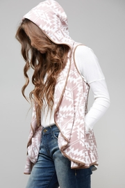 Peach Love California Hooded Knit Vest - Product Mini Image