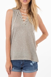 Others Follow  Hooded Lace-Up Top - Product Mini Image