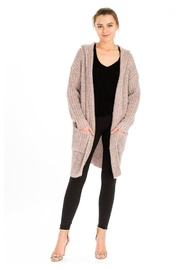 Baciano Hooded Long Cardigan - Product Mini Image