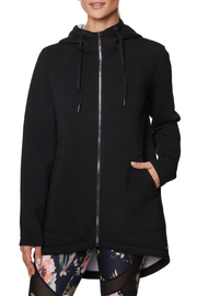 Betsey Johnson Hooded Longline Bonded Jacket - Product Mini Image