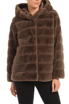 Patty Kim Hooded Lux Faux Fur Coat - Product List Image