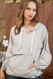 Main Strip Hooded Mesh Anorak - Front cropped