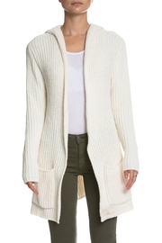 Elan Hooded Open Cardigan - Front cropped