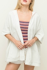 Hem & Thread hooded oversized cardigan - Product Mini Image