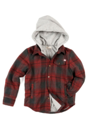 Appaman Hooded Plaid - Front cropped