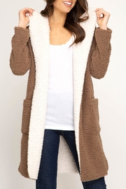 She + Sky Hooded Shearling Fleece-Coat - Product Mini Image