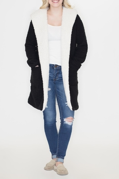 Shoptiques Product: Hooded Shearling Jacket