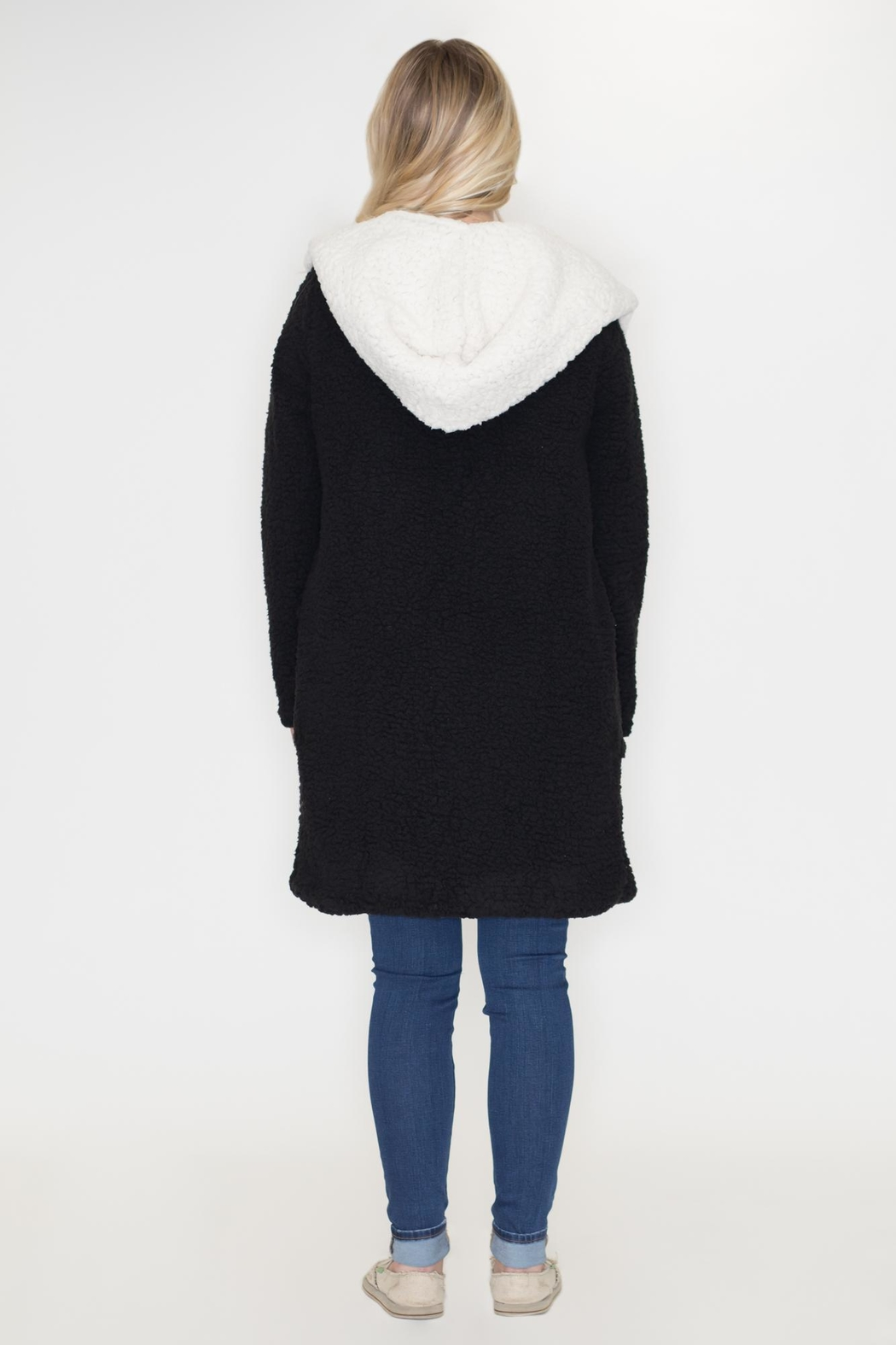 She + Sky Hooded Shearling Jacket from Philadelphia by May 23 ... 19adcb604