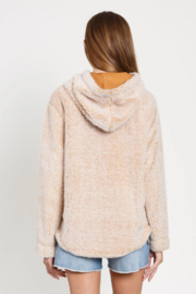 Dylan by True Grit Hooded Sherpa Side-Zip Pullover - Side cropped