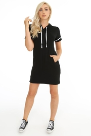 Bobi Hooded Sporty Dress - Product Mini Image