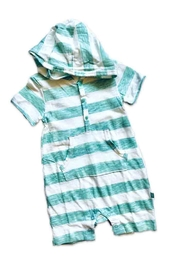 Vaenait Baby Hooded Stripe Romper - Front cropped